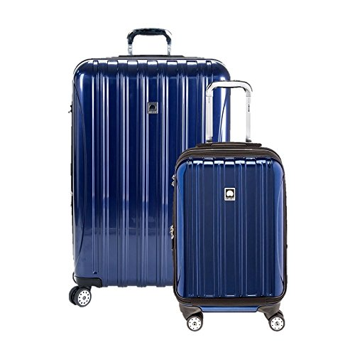 Delsey Luggage Aero Hardside Carry on and Check in, Cobalt