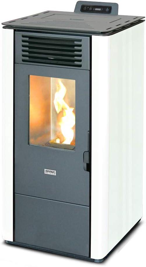 Divina Fire LOLITA100 - Estufa de pellets (10 kW, 230 mc