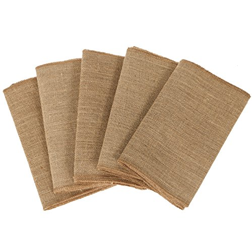 ling's moment 12x108 inch Burlap Wedding Table Runner Jute Spring Summer Easter Decoration Country Rustic Wedding Decorations Farmhouse Kitchen Decor PACKAGE OF 5