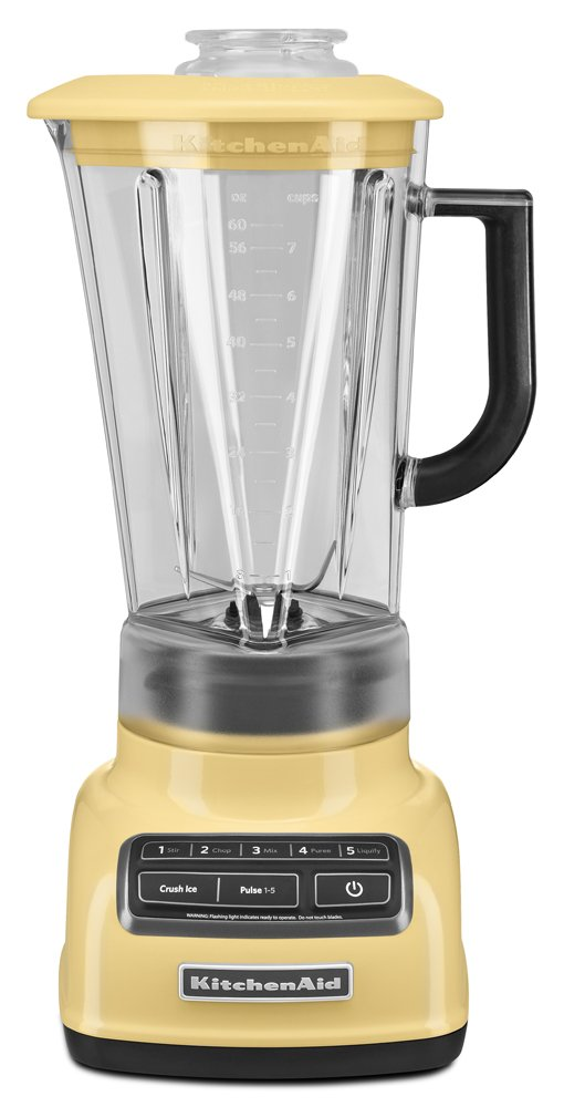 KitchenAid KSB1575MY 5-Speed Diamond Blender with 60-Ounce BPA-Free Pitcher - Majestic Yellow