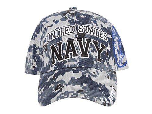 United States Navy Font Blue Digital Camo Adjustable Cap Picture