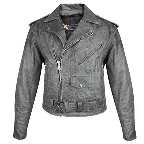 Mens Classic Leather Jacket - 9