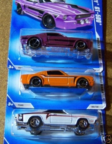 Hot Wheels 2009 Kmart Day Sept Set - '69 Dodeg Charger, '67 Shelby GT-500, '65 Mustang Fastback EXCLUSIVE