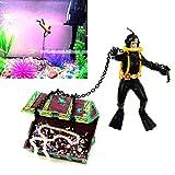 Hunter Treasure Figure Action Fish Tank Ornament Landscape Decor Nontoxic Aquarium Underwat