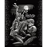 Ride or Die Motorcycle Biker Lovers Queen Size Luxury Royal Plush Blanket 79x95 Inches