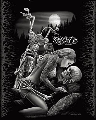 DGA Ride or Die Motorcycle Biker Lovers Queen Size Luxury Ro