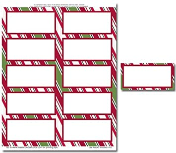 amazon com holiday stripes mailing label paper stationery