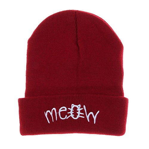 DongDong ♫2018 Winter Hat Unisex Winter Keep Warm Letter Printed Embroidered Ski Flat Cap