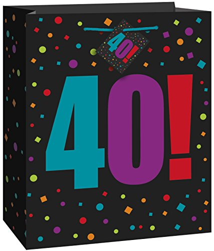 Large Birthday Cheer 40th Birthday Gift Bag -