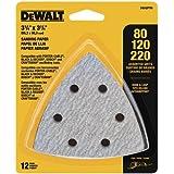 DEWALT Surtido de papel de lija, triángulo de gancho y bucle, paquete de 12 (DWASPTRI)