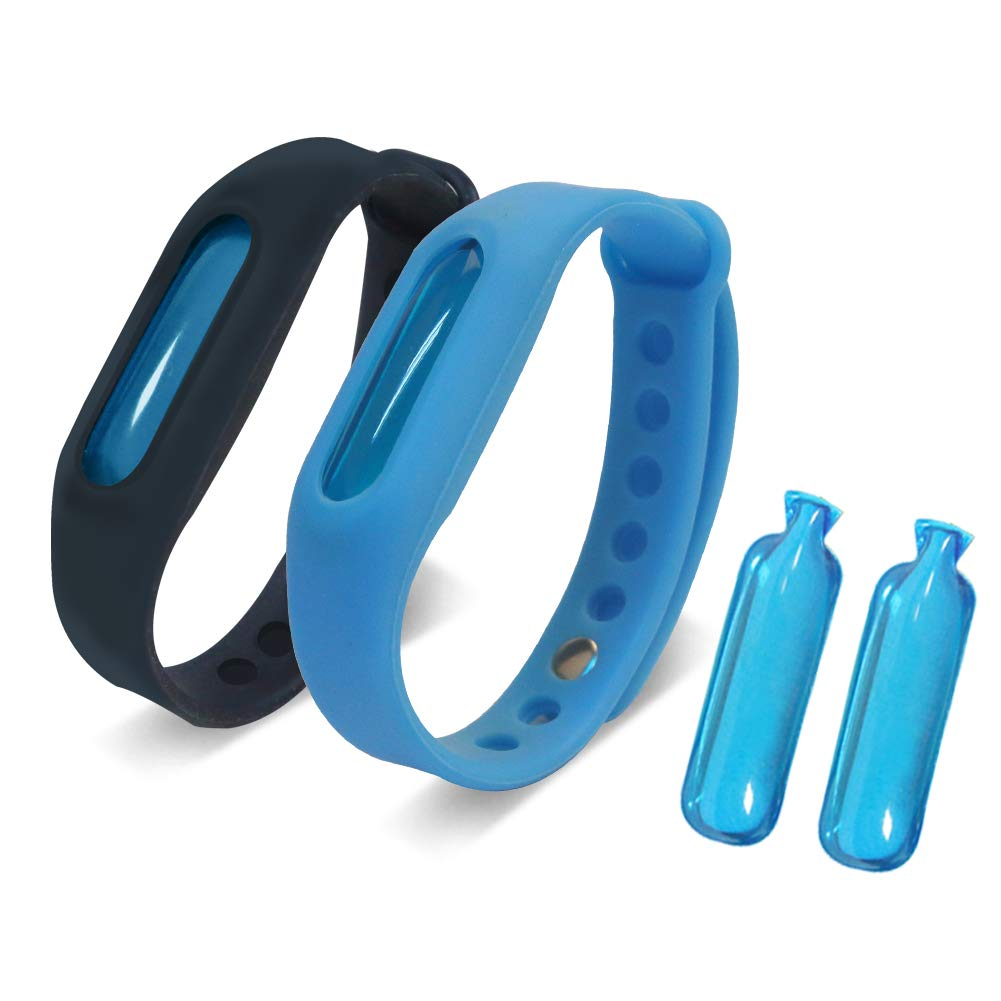KIVETAI Mosquito Repellent Bracelet 100% All Natural Anti Mosquito Bracelet With 2 Free Essential Oils Capsules Waterproof Non Spray Deet Free 60 Days Protection for Kids, Adult and Pregnant