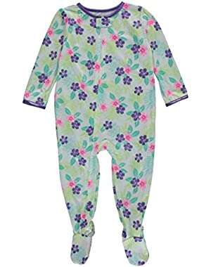 Carters Baby Clothing Outfit Girls Print Footie PJs Tropical Floral