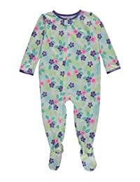 "Carter's Baby Girls' ""Tropical Blossoms"" Footed Pajamas"