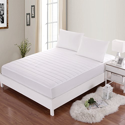 Allrange Waterproof Mattress Pad, Moisture Management, Stain Release, Quilted, Snug Fit, Stretch-up-to 16