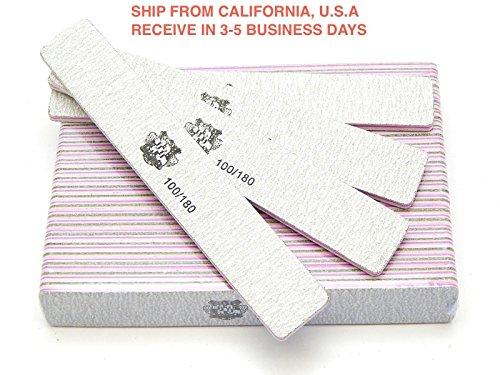 Nail Sanding Files Grit 100/180 Large