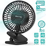 6-Inch Clip On Fan, 10000mAh Battery Operated Fan