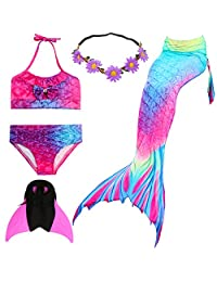 UrbanDesign Mermaid Tails for Swimming with Monofin and Top
