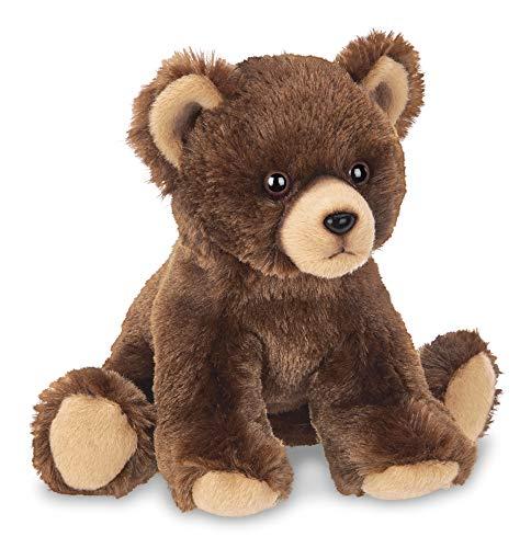 Bearington Lil' Grizby Small Plush Stuffed Animal Brown Grizzly Bear, 7 - Cub Bear Stuffed Animal