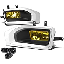 GMC Yukon/XL Pair of Bumper Driving Fog Lights + Wiring Kit + Bezel + Switch (Chrome Cover Amber Lens)