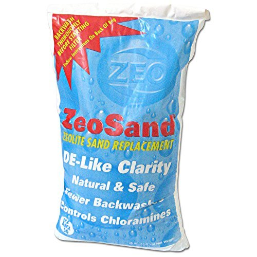 ZeoSand Swimming Pool Sand Replacement, Alternative Filter Media, 50 Pounds by Zeo, Inc