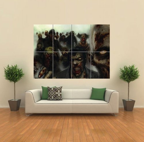 VECTOR GOTHIC ZOMBIE HORROR MONSTERS GIANT WALL ART PRINT PICTURE POSTER G1212 (Halloween Zombies Vector)