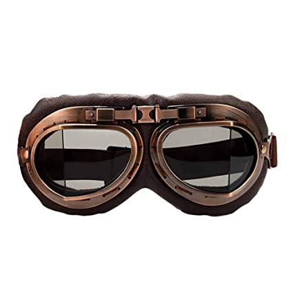 c93560c38 Aesy Motorcycle Goggles Glasses Vintage Motocross Classic Goggles Retro  Aviator For Harley Protection Eyewear UV Protection (Grey): Amazon.co.uk:  Car & ...