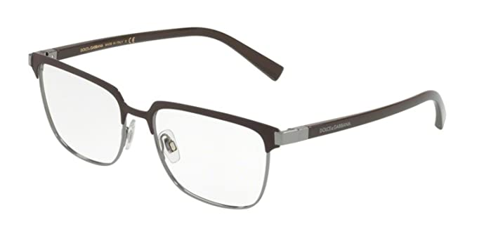 79d822570a Image Unavailable. Image not available for. Color  Eyeglasses Dolce   Gabbana  DG 1302 1315 MATTE BROWN GUNMETAL