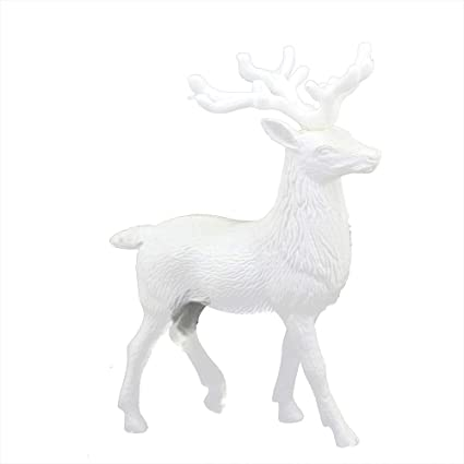 christmas decoration toys white deer xmas lucky reindeer doll kid doll decor home decoration party ornament - White Deer Christmas Decoration