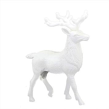 christmas decorationszty66 white deer christmas xmas reindeer kid doll decor home decoration