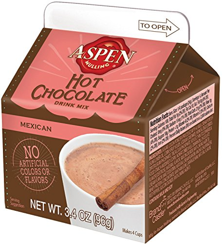 Holiday Spice Cocoa - Aspen Mulling Hot Chocolate Drink Mix, Mexican, 3.4-Ounce Carton