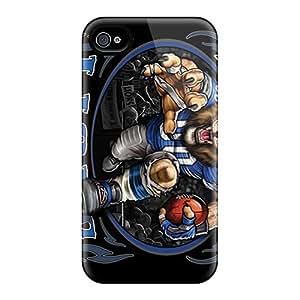 Excellent Design Detroit Lions Phone Case For Iphone 4/4s Premium Tpu Case