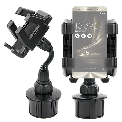 - DURAGADGET Shake-Proof, Shock-Absorbing in-Car Cup Holder Mount/Holder with Rotatable Mount - Compatible with ASUS ZenFone 3 / ASUS ZenFone 3 Deluxe/ASUS ZenFone 3 Ultra