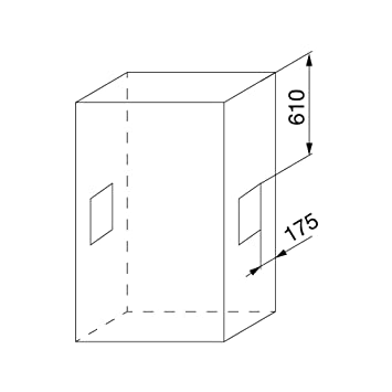 Emuca - Barra de armario abatible, perchero basculante, colgador abatible para armario, anchura regulable 450-600mm, acabado cromado