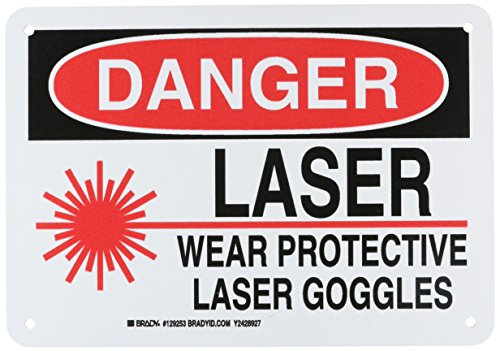 Brady 129253 Radiation and Laser Sign, Legend