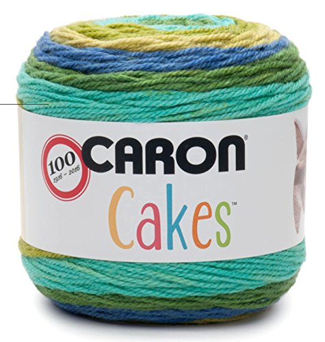 Caron Cakes Self Striping Yarn 1 Ball Blueberry Kiwi 7.1 ounces