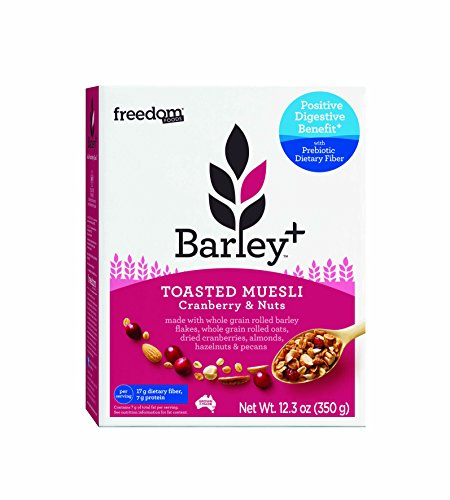 Cranberry Cereal (Freedom Foods Barley+ Toasted Muesli Cereal (Cranberry & Nuts) - With Prebiotic Fiber to Promote Good Gut Health - 100% Natural, Non-GMO Ingredients (1 Box))