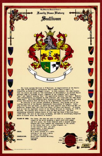 Sullivan Coat of Arms/Crest and Family Name History, meaning