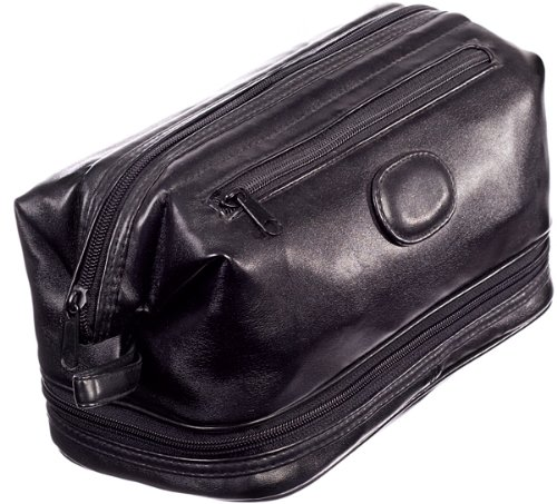 Danielle Milano Men's Large Framed Top Zip Toiletry Bag 8815