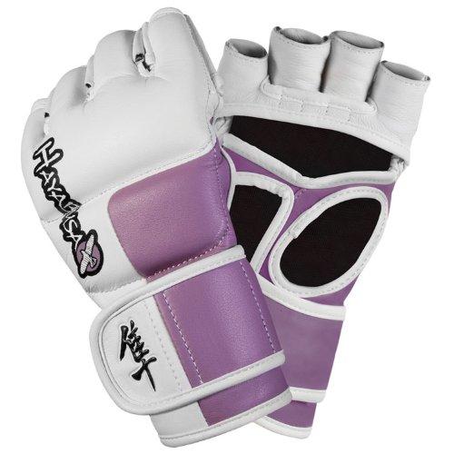 Hayabusa Tokushu 4oz MMA Gloves White/Slate Grey MED T4MMAG-WSGM