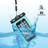 JOTO Waterproof Cell Phone Dry Bag Case for Apple iPhone 6, 6 plus, 5S 5C 5 4S, Samsung Galaxy S6, S5, Galaxy Note 4 3, Windows, HTC LG Sony Nokia Motorola - Green