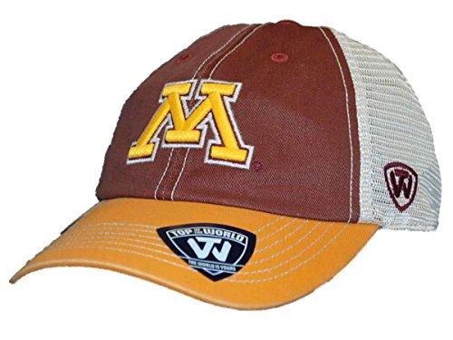 Adj Cap Khaki - NCAA Minnesota Golden Gophers Offroad Snapback Mesh Back Adjustable Hat, One Size, Maroon/Gold/Khaki
