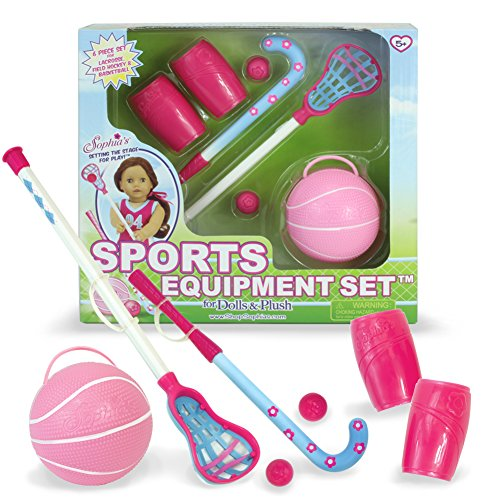 18 Inch Doll Accessory Pretend Sport Equipment Play - More Sports Equipment