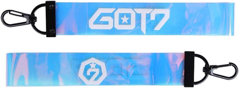 Chour /& Euhk Kpop BTS Got7/Wanna One Seventeen Laser Nom Barre de t/él/éphone portable Lanyard DIY color/é en PVC Porte-cl/és Pendentif Bijoux de sac d/école chaude Cadeau pour les fans Seventeen