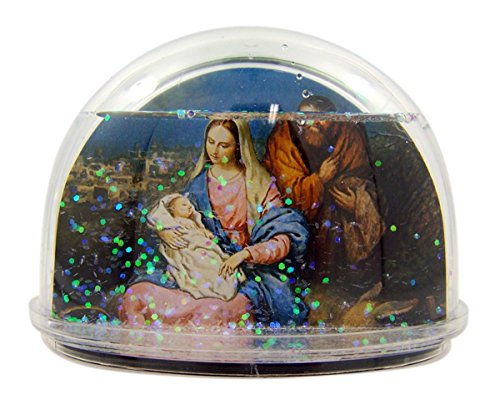 Bible Teachers Verses (Holy Family in Bethlehem Religious Christmas Snow Globe Glitter Dome with Bible Verse, 2 1/2 Inch)