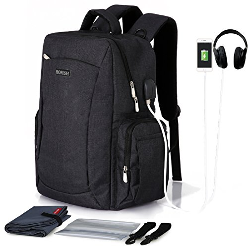 HOFISH Laptop Backpack Bag for Women Men W/Stroller Straps w