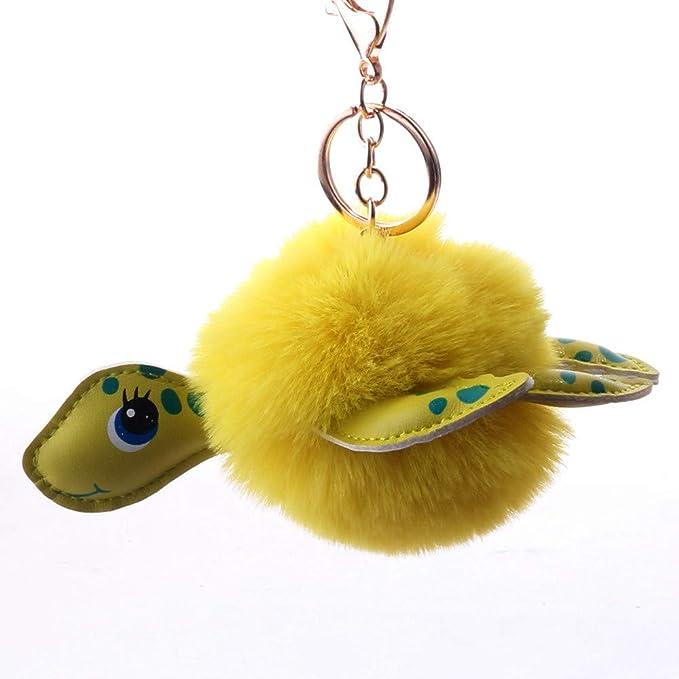 llavero de felpa con bolsa de regalo Llavero de tortuga Arbre amarillo tortuga de felpa