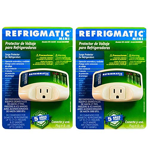 Refrigmatic WS-36300 Electronic Surge Protector for Refrigerator Up to 27 cu. ft. ((2) Pieces)