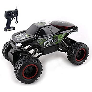 KidiRace Rock Crawler Remote Control Black RC Car - All Terrain - With 3 Powerful Motors - Off Road Race Car