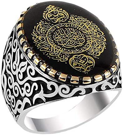 Falcon Jewelry Mens 925 Sterling Silver Ring Free Express Shipping Islamic Ring