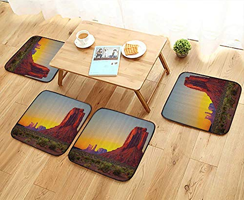 Printsonne Chair Cushions Sunin Grand Cany Archaic Natural Wders of World Heritage Non Slip Comfortable W25.5 x L25.5/4PCS Set ()